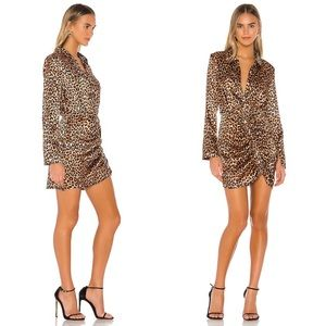 LIKELY Leopard Emilia Dress in Leopard Ruched